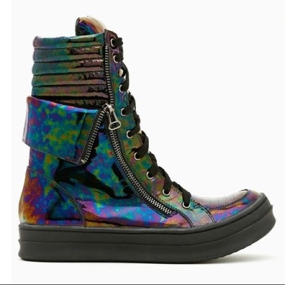 710f3c898a0a Jeffery Campbell Kirk hi black iridescent